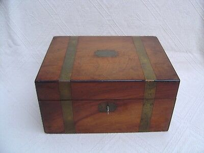 Antique Victorian Wooden Writing Slope / Stationary Box - Secret Drawers