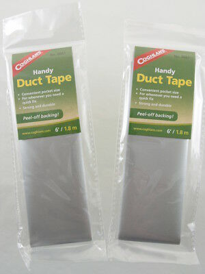 2 PK Duct Tape Compact Pocket Travel Size Emergency Survival Utility Repair Tape