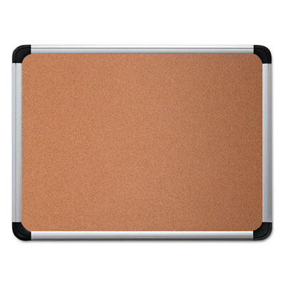 Universal Cork Board with Aluminum Frame, 36 x 24, Natural, Silver Frame