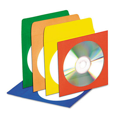 Innovera CD/DVD Envelopes with Clear Window, Asstd. Colors, 50/Pack