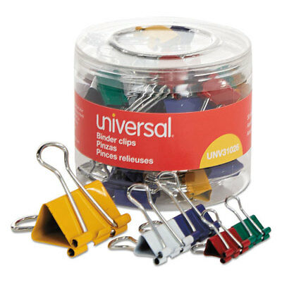 Universal Asstd. Binder Clips, Mini/Small/Medium, Asstd. Colors, 30/Pack