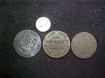 Set of 3 Brothel and Prostitute Coins and Tokens