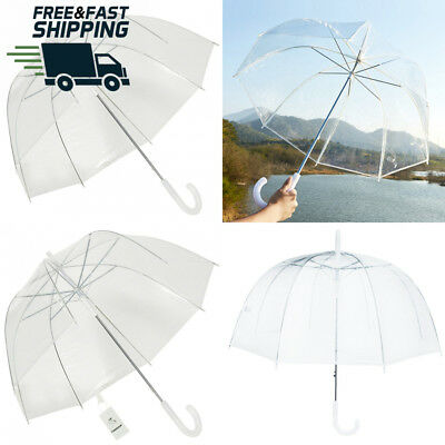 TOSOAR Clear Bubble Umbrella Dome Shape Transparent for Weddings Windproof