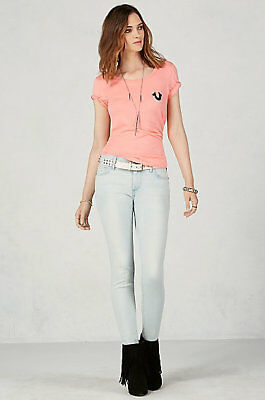 NWT True Religion Halle Mid Rise Super Skinny Stretch Jeans – Sunnynook Blue -31