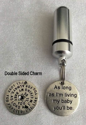 Cremation Jewellery Ashes Urn w As Long As I'm....... Keepsake Memorial Necklace