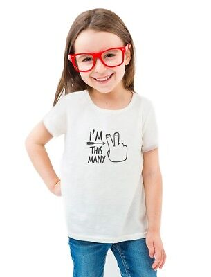 2nd Bday Two Year Old Second Birthday Gift Toddler/Kids Girls' Fitted T-Shirt 2