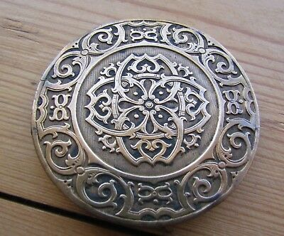 *rare*antique VictorianPugin Arts And Crafts Style Brooch Large 6.4Cm Dia