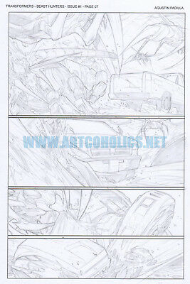 TRANSFORMERS Beast Hunters 1 pg 7 original art by AGUSTÍN PADILLA IDW comics