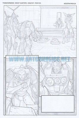 TRANSFORMERS Beast Hunters 1 pg 9 original art by AGUSTÍN PADILLA IDW comics