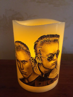 BROS FLAMELESS WAX FLICKERING CANDLE Matt and Luke Goss