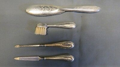 An Antique Solid Silver Vanity Set-Dated 1910