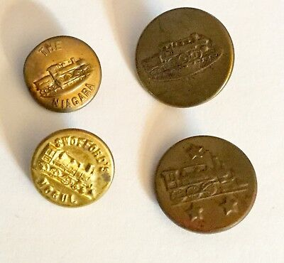 Lot R Antique Train Car Locomotive Work Clothes Buttons Old Niagara Swofford