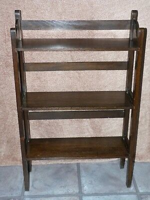 ANTIQUE BOOKCASE/ORNAMENT SHELVES FREE STANDING possibly OAK