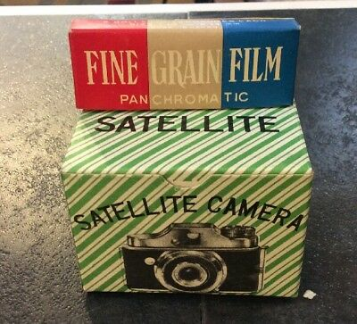 VINTAGE 1960s ~ Japan Satellite ~MINI SPY CAMERA ~ NOS MINT IN BOX W FILM! RARE