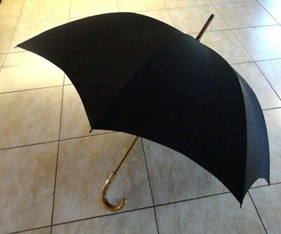 Swaine Adeney Brigg The Worlds Finest Umbrella Silk Canopy Malacca Handle/Shaft