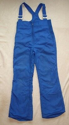 Vintage Roffe Insulated Snow Bibs Ski Suit, Blue, Kids, No Size Tag, Distressed