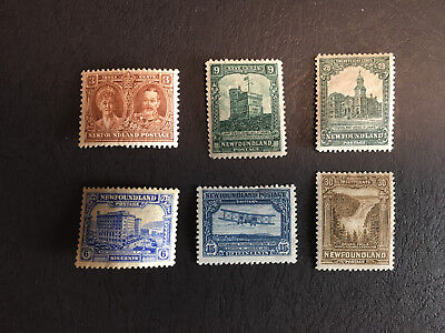 NFLD - mint selection from 1928 Pictorial Issue