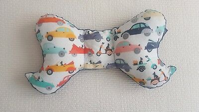 Baby pillow La Millou cushion baby head support Cars navy