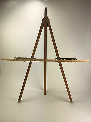 Vintage Grumbacher Folding Wood Easel No. 237 Artist Stand Fast Free Shipping