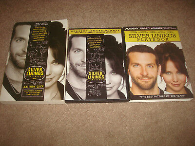 Silver Linings Playbook BOOK + DVD Movie LOT Set Matthew Quick Novel Slipcover