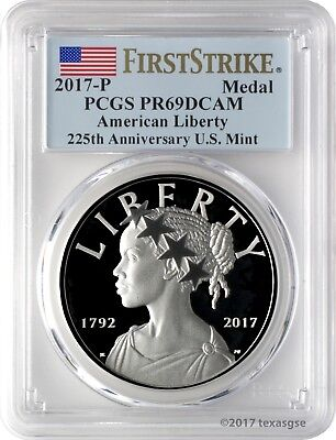2017-P American Liberty Silver Medal PCGS PR69DCAM First Strike