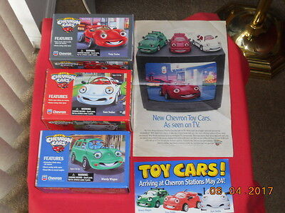 Chevron Cars - Toy Cars - Original 1St , 2Nd, & 3Rd Car Of The Series With Ads