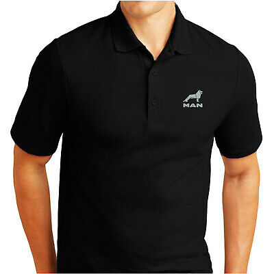 Man Truck Lorry Embroidered Polo Shirt Fruit Of The Loom Birthday Gift Rugby