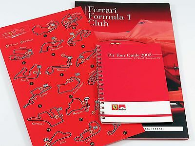 Ferrari Formula 1 Club Brochure with Tour Guide and Track Map 2002