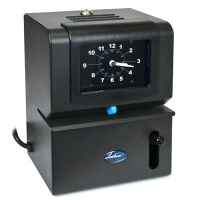 Lathem 2121 Heavy-Duty Manual Time Clock (Charcoal) - Prints Day of Week, 1-