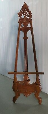 Display Easel - Large Antique Carved Timber Decorative Art Painting Easel