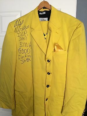 Big Money Hustlas Alex Abbiss Autographed Movie Worn Suit ICP Insane Clown Posse