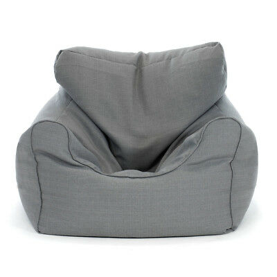 Large Grey Bean Bag Chair Poly Cotton Soft Warm Plush Sofa Chair Seat Relax
