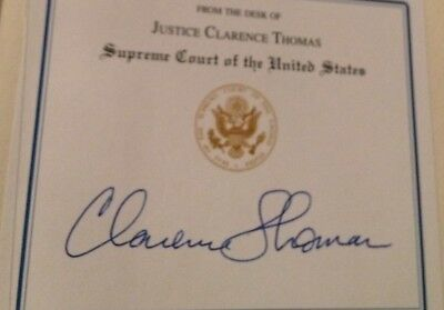 SUPREME COURT JUSTICE * CLARENCE THOMAS*  Hand Signed First Ed. Book