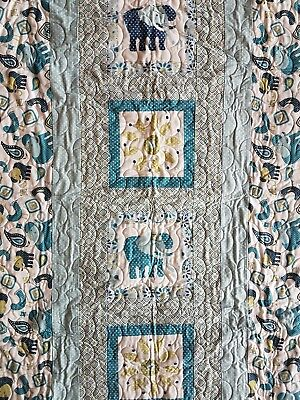 cot quilt handmade, patchwork, play mat, blanket, baby gift,