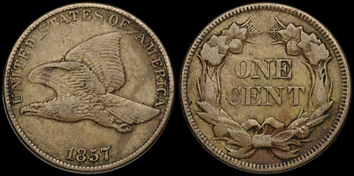 Flying Eagle Small Cent 1c, 1857