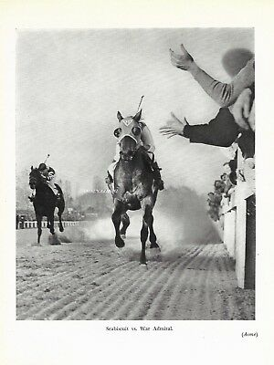 Sea Biscuit Vs. War Admiral Thoroughbred Racing  1940  Horse Art Print
