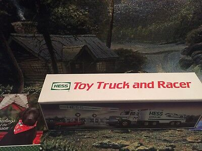 1988 Hess Toy Truck & RACER w/Original Box & Inserts, NEW MINT