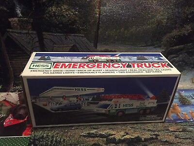 1996,  hess truck, Emergency Truck,Vintage,Collectible, MINT, New In BOX
