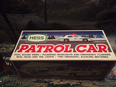 1993 hess truck,  PATROL CAR, MINT New In BOX Collectible