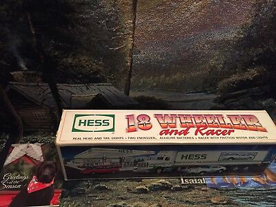 1992 hess truck,  18-Wheeler & Racer, MINT New In BOX