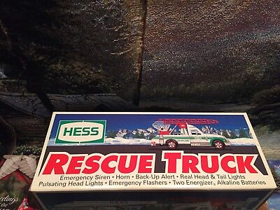 1994 hess truck,  RESCUE Vehicle, Ready To rescue Collectible, MINT New In BOX