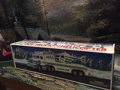 1995 hess truck, With Helicopter, MINT In BOX, Collectible
