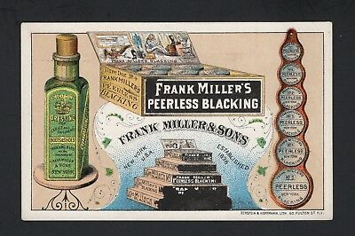 SCARCE 1880s FRANK MILLER & SONS TRADE CARD  #1