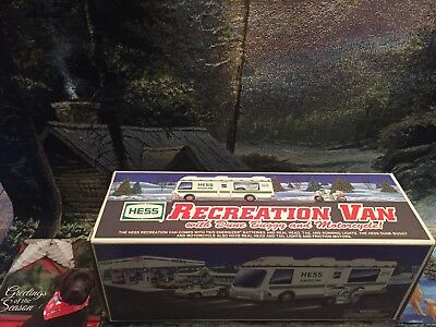 1998 hess truck, Rec Van, D Bug, & M Cycle, Vintage,Collectible, New In BOX