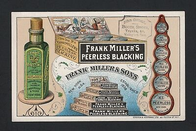 SCARCE 1880s FRANK MILLER & SONS TRADE CARD  #6