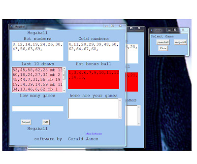 PowerBall and megaMillion Lottery Numbers software CD for Windows 7 & 8 & 10