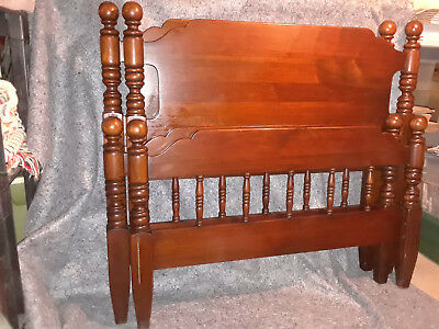 Antique Matching Twin Poster Bed Set - Davis Cabinet Company