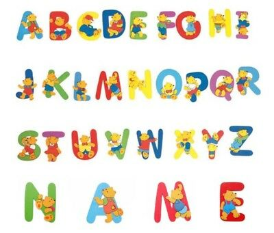 Wooden Bear Letters - Your Childs (Boy/girl) Six (6) Letter Name + Free Post