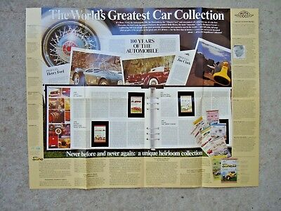 WORLD'S GREATEST CAR COLLECTION - Stamp Collection
