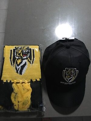 Richmond Tigers AFL Scarf & Cap Brand New Members Only 2018